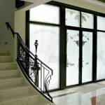 Iron Work and Etched Glass Doors