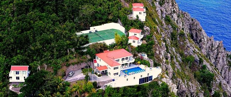 Air View Shearwater Saba Dutch Caribbean