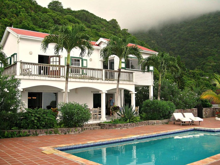 Carolina Cottage Pool and House Saba