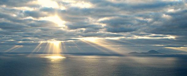 Sunrise on Saba Booby Hill