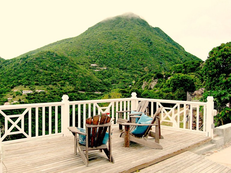 Spyglass Deck and Mount Scenary Saba Dutch Caribbean