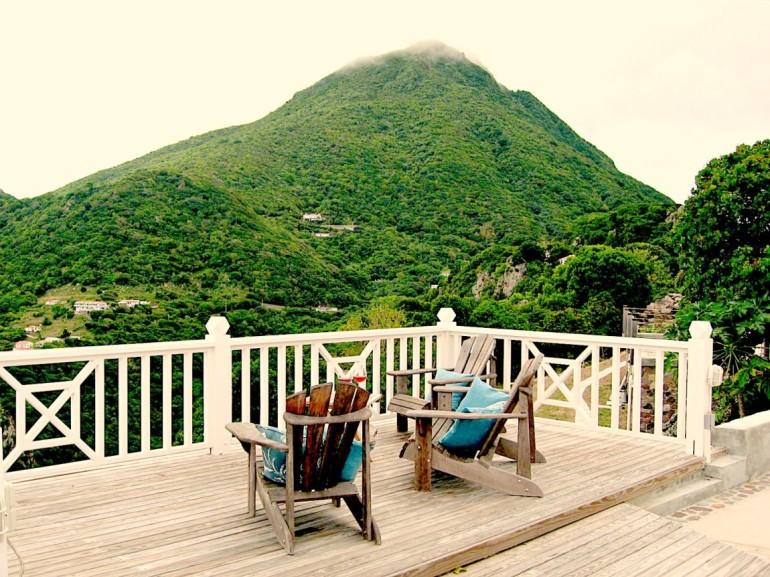 Spyglass Deck and Mount Scenary Saba Dutch Caribbean