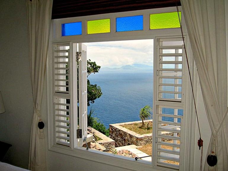 Spyglass Villa Window Caribbeaan View Saba