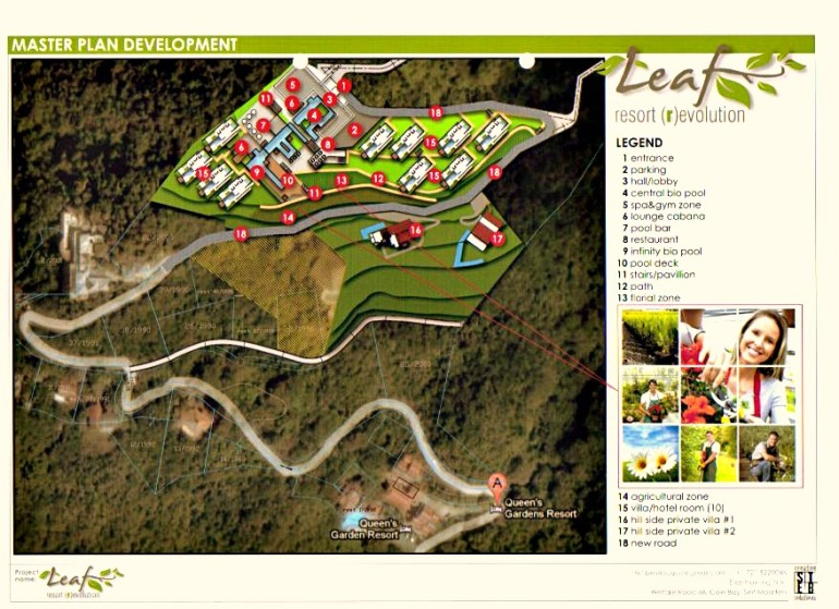 Leaf Resort Lnad Layout Troy Hill Saba