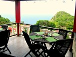 Scout's Balcony Seating and View Saba