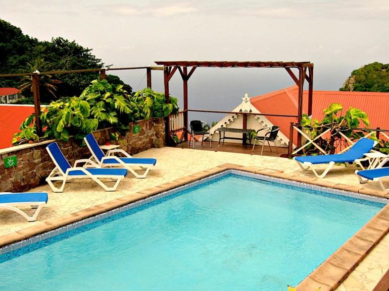 Scout's Place Pool Windwardside Saba