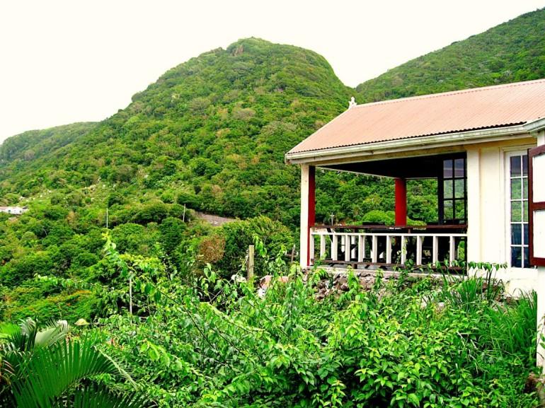 Scout's Place Outside Balcony Saba