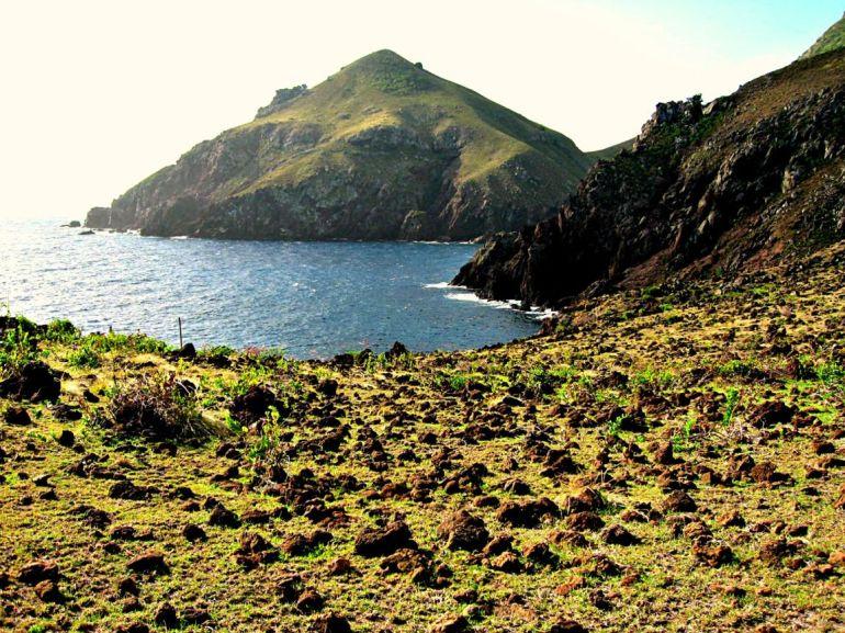 Flat Point Coave Bay Saba Dutch Caribbean