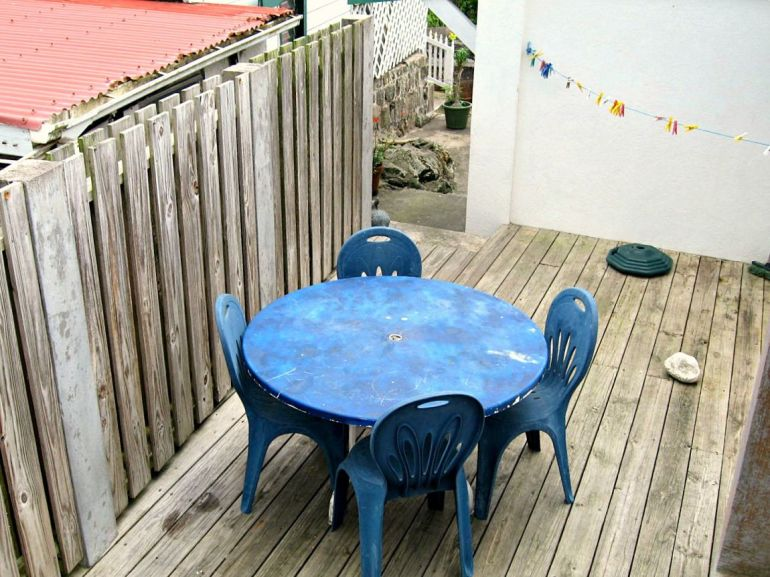 Square Nickel House Back Deck
