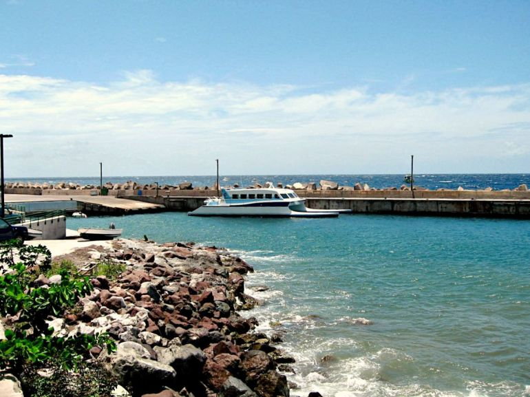 Fort Bay Ferry Saba Dutch Caribbean