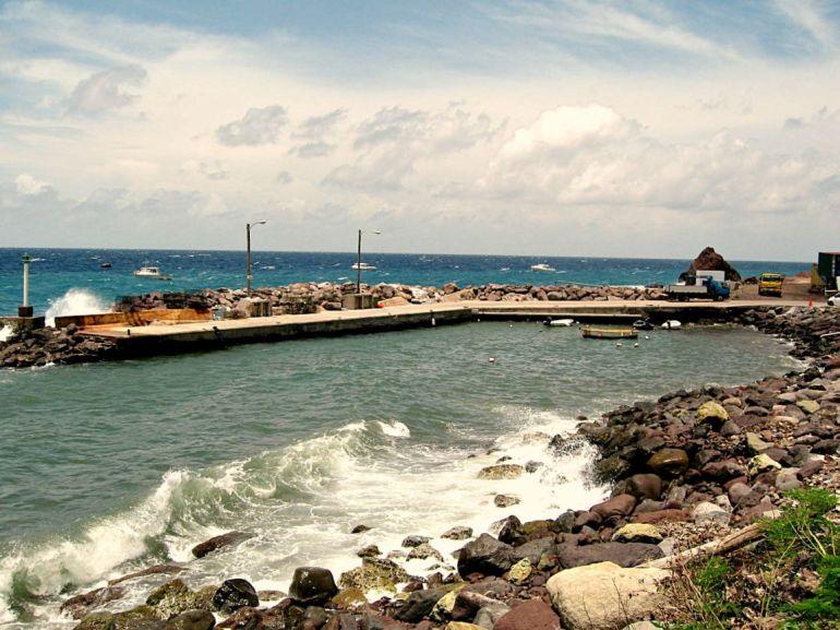 Fort Bay Harbor Saba Dutch Caribbean