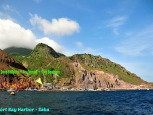 Fort Bay Harbor and Island of Saba