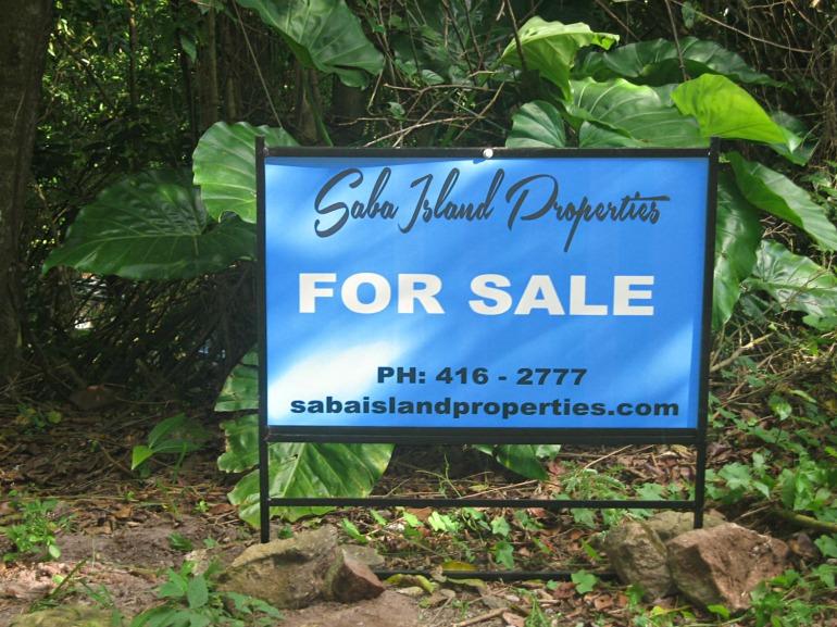 Saba Island Properties For Sale Sign
