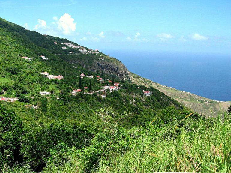 Cliffs of Saba Dutch Caribbean