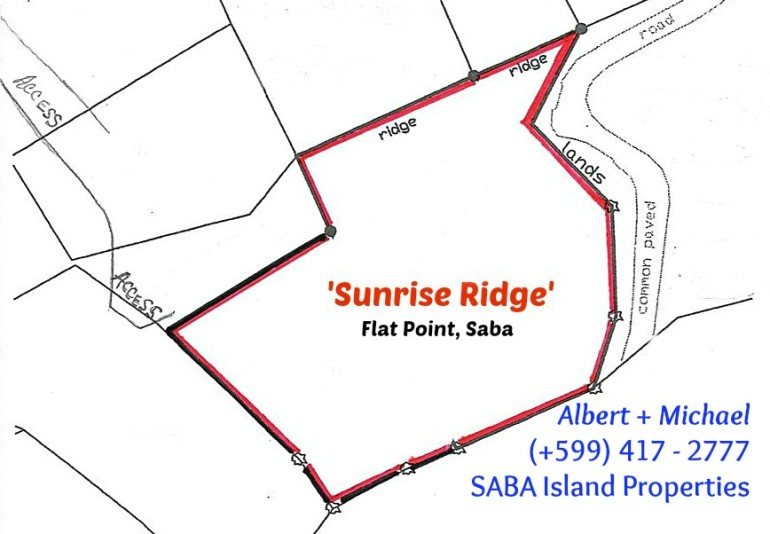 Flat Point Land For Sale Saba