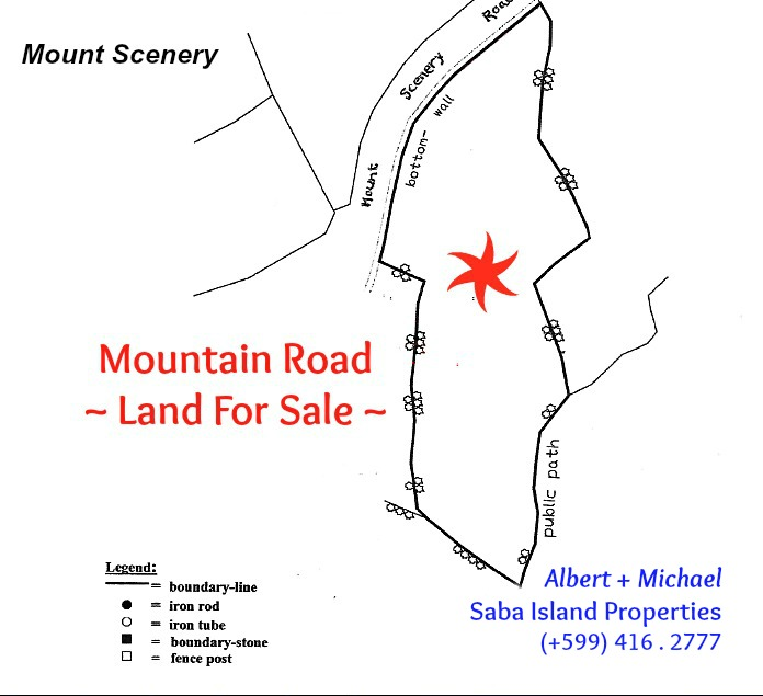 Mountain Road Land For Sale Saba
