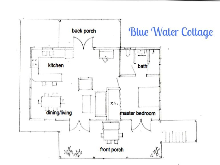 Blue water Cottage Floor Plan Saba