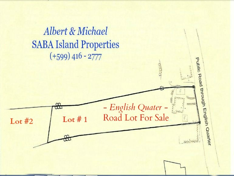 English Quater Road Lot For Sale Saba