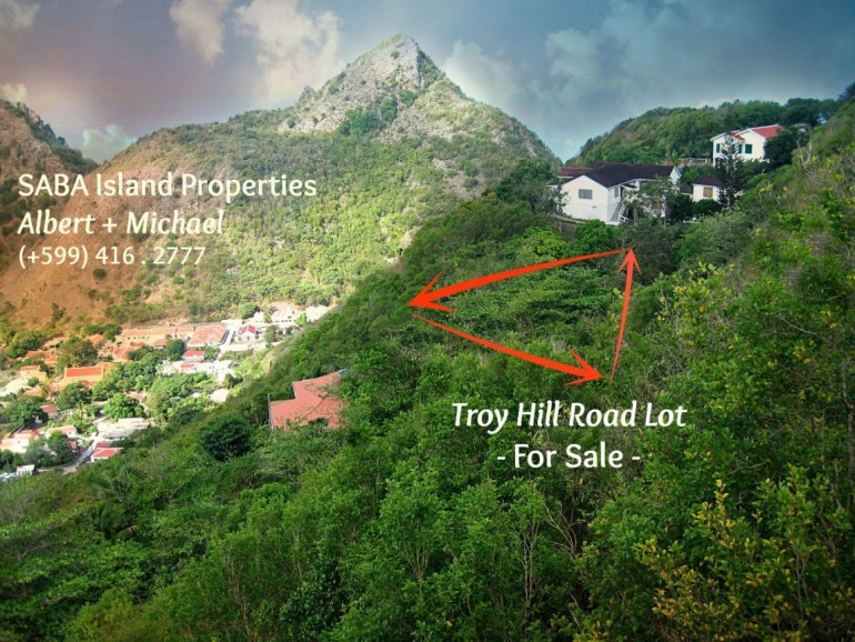 Troy Hill Road Lot For Sale Saba