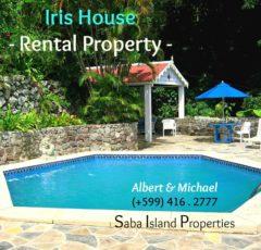 Iris House Rental on Saba Albert & Michael Saba island Properties