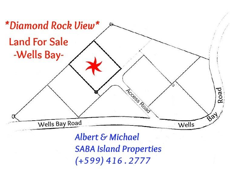 Diamond Rock View Land Map Saba