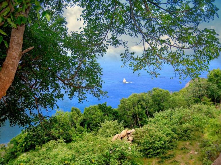 Diamond Rock Wells Bay Saba