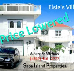 Elsie's Villa For Sale - Albert & Michael 416 2777 Saba Island Properties