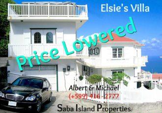Elsie's Villa For Sale - Albert & Michael 416 2777 Saba Island Properties