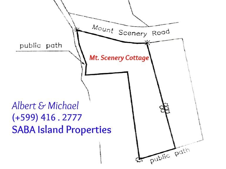 Mount Scenery Cottage Land Map