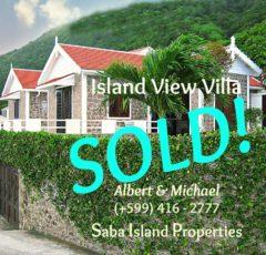 Island View Villa SOld - Albert & Michael - Saba Island Properties