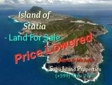 Statia Land For Sale Water Front - Albert & Michael - Saba Island Properties