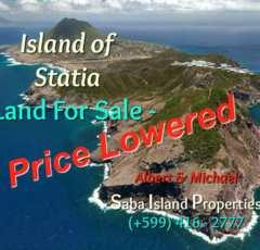 Statia Land For Sale Water Front - Albert & Michael - Saba Island Properties