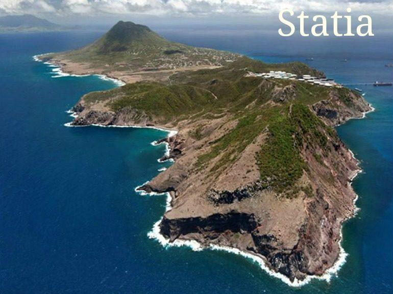 Island of Statia in Dutch Caribbean