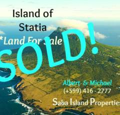 Statia Land SOLD - Albert & Michael - Saba Island Properties (+599) 416 2777