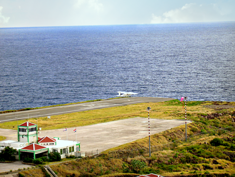 Saba Airport Cove Bay Dutch Caribbean