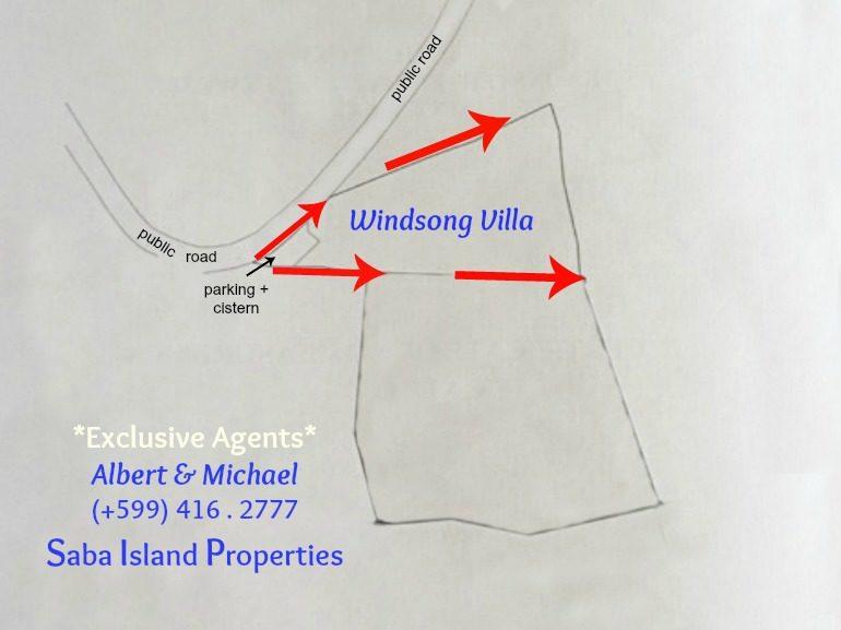 Windsong Villa Land Map Saba Dutch Caribbean