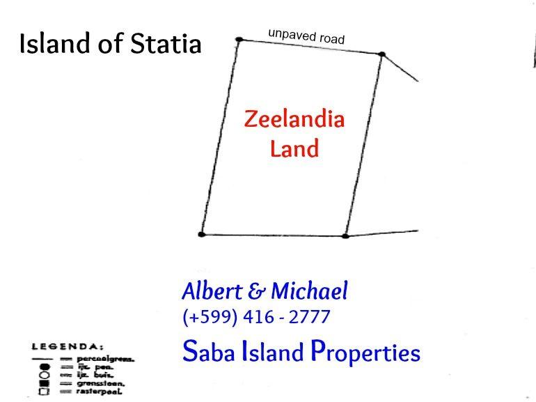 Statia Land For Sale Zeelandia Beach Albert & Michael Saba Island Properties