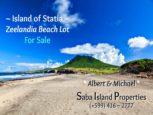 Zeelandia Beacj Lot For Sale on Statia by Albert & Michael Saba Island Properties
