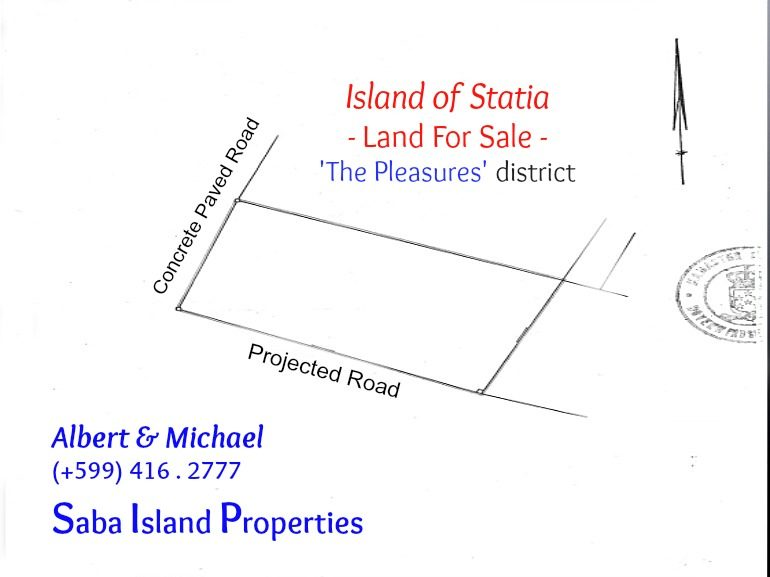 Land For Sale on Statia - Albert & Michael - Saba Island Properties