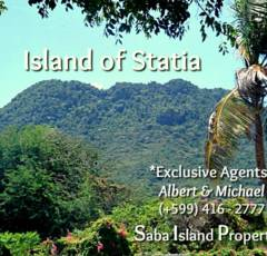Statia Land For Sale - Albert & Michael - Saba Island Properties