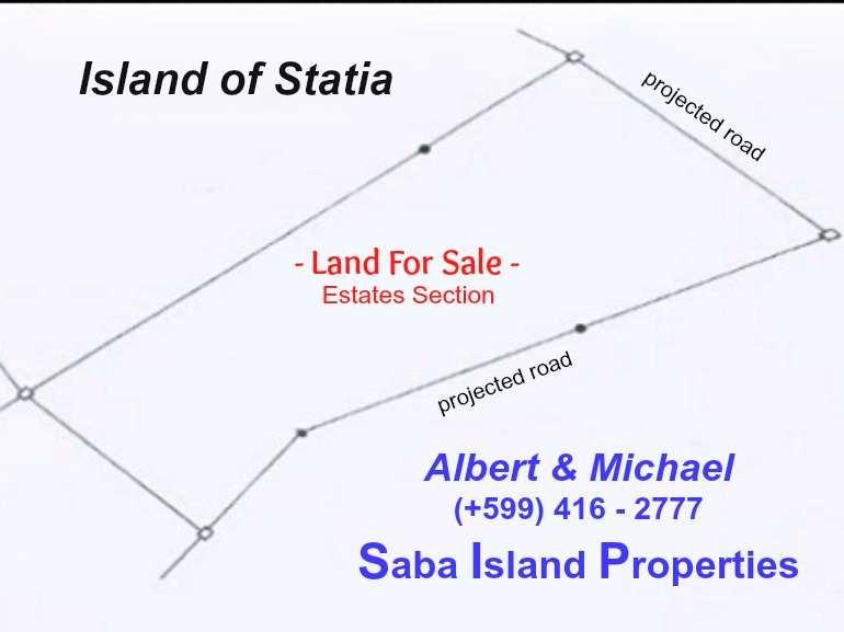 Statia the Estates Section - Land For Sale - Albert & Michael - Saba Island Properties - 599 - 416 - 2777