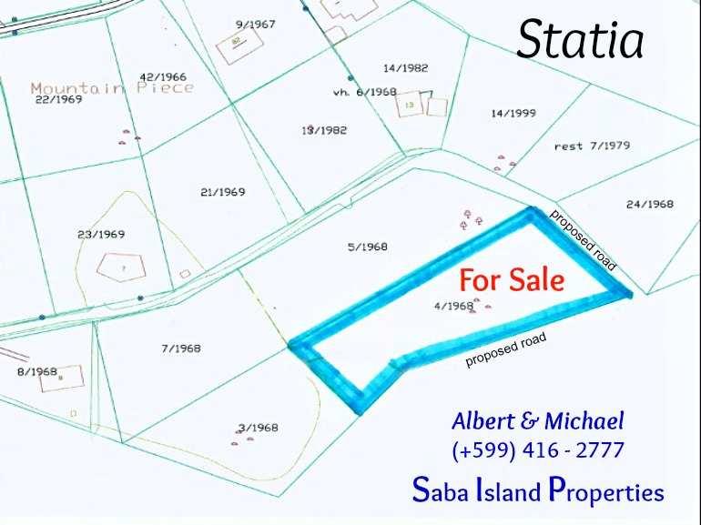 Statia - Estates Section Land For Sale - Albert & Michael - Saba Island Properties (+599) 416 2777