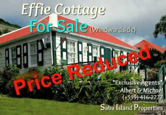 Effie Cottage For Sale Windwardside - Albert & Michael - Saba Island Propertes