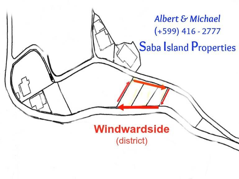 3 Windwardside Lots - Albert & Michael - Saba Island Properties