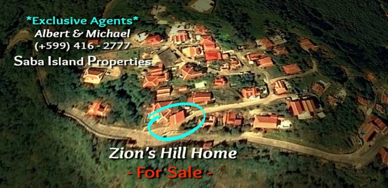 Zion's Hill Home - For Sale - Albert & Michael - Saba Island Properties