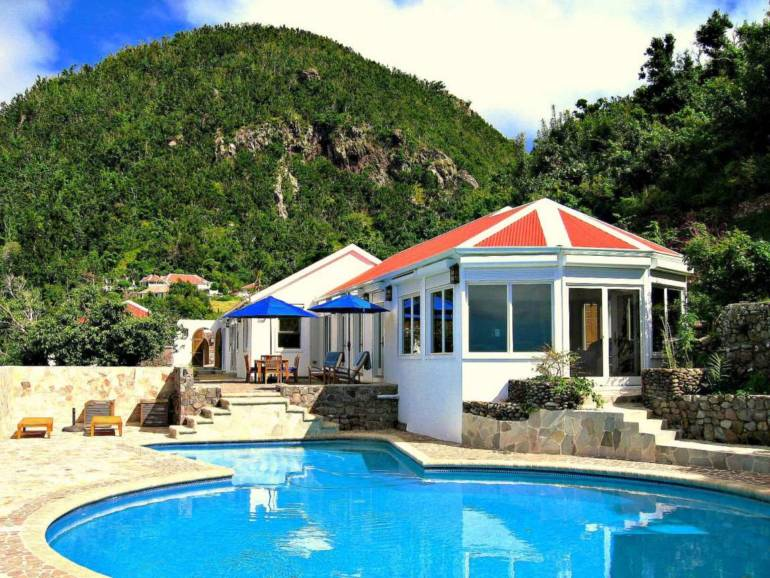 Champagne Cottage - For Rent -Albert & Michael - Saba Island Properties