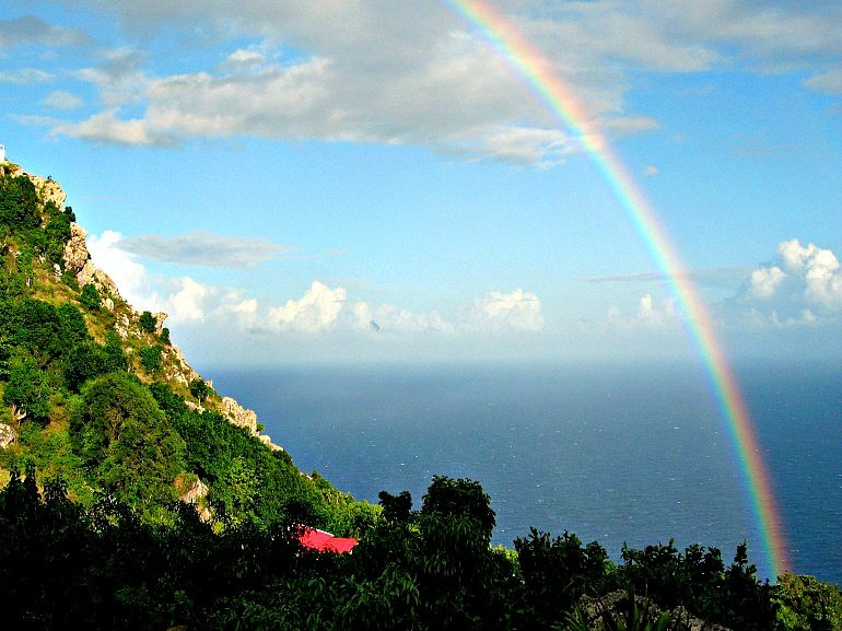 Rainbow on Dutch Caribbean Island of Saba - Albert & Michael - Saba Island Properties