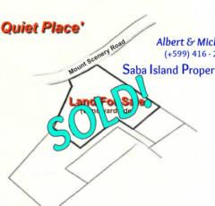 A Quiet Place - Land on Saba - Sold - Albert & Michael - Saba Island Properties